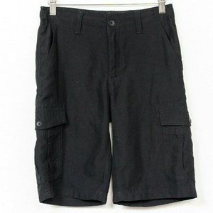 Hawk Cargo Shorts 14 Boys Black Pockets Soft 10.5""